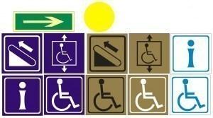 Таблички и наклейки для инвалидов и слабовидящих